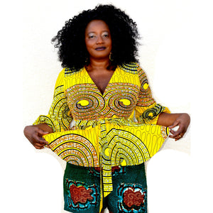 LOLA African Peplum Top - Zabba Designs African Clothing Store