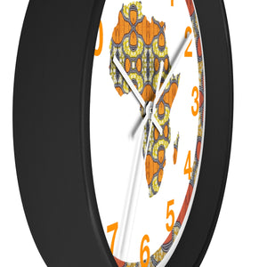 Leo  African Inspired Wall clock - Zabba Designs African Clothing Store