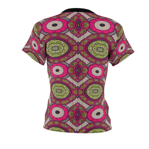 Sweet Fall Women's African Print Polyester  Tee