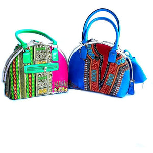 Dashiki African Java Wax Print Bag - Zabba Designs African Clothing Store