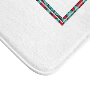 Blue Zappy Signature Soft Bath Mat - Zabba Designs African Clothing Store