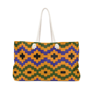 The Show Ghana  Kente Print Weekender Bag - Zabba Designs African Clothing Store