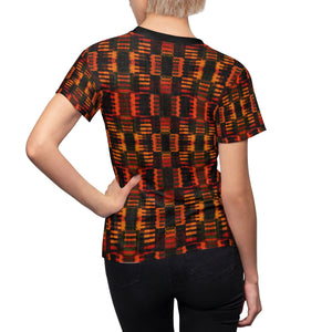 Blue Ivy Women's African Print Polyester  Tee - Zabba Designs African Clothing Store