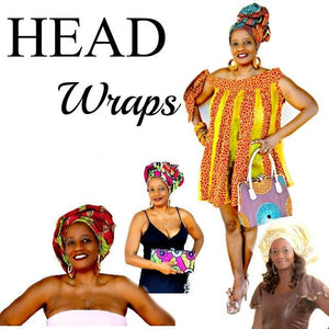 African Ankara Print Headwrap~  The DAGE - Zabba Designs African Clothing Store