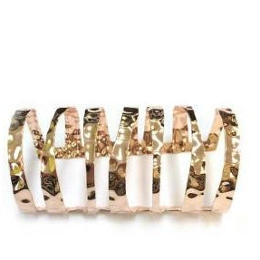 ROSE GOLD POLISHED METAL CUTOUT CUFF BANGLE - Zabba Designs African Clothing Store