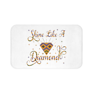 Shine Like A Diamond Velvet Soft Bath Mat Collection - Zabba Designs African Clothing Store