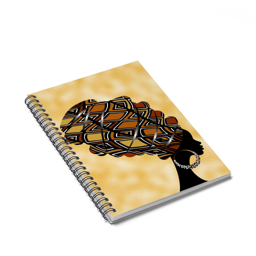 Mud Cloth  Headwrap Spiral Notebook - Ruled Line
