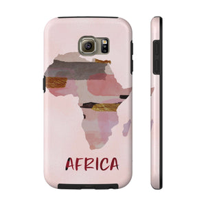 Pink Map Of Africa Cell Phone Case - Zabba Designs African Clothing Store