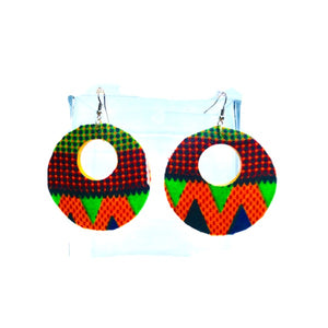 Coco African Handmade Wood Earrings - Zabba Designs African Clothing Store