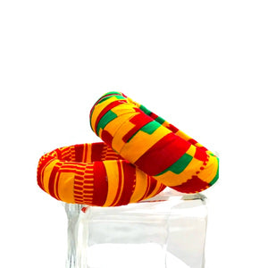 Kente Print Handmade Bangles - Zabba Designs African Clothing Store
