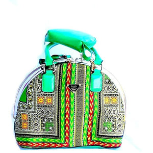 Dashiki Java Wax Print Top Handle Bag - Zabba Designs African Clothing Store