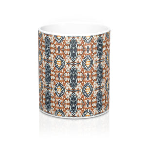 Brown Traditional Ethnic Print  Designer's  Coffee Mug - Zabba Designs African Clothing Store