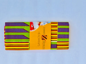 African Kente Print Earrings - Zabba Designs African Clothing Store