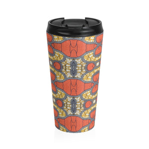 African Ankara Print Stainless Steel Travel Mug - Zabba Designs African Clothing Store