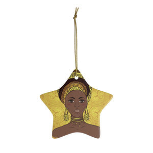 Yellow  Mama Africa Ceramic Ornaments - Zabba Designs African Clothing Store