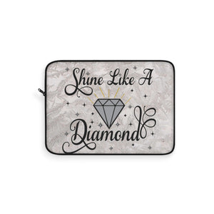 Shine Like A Diamond Laptop Sleeve - Zabba Designs African Clothing Store