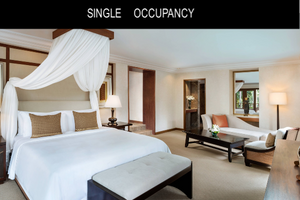 Bali Luxury Vacation Single Room. One Time Payment