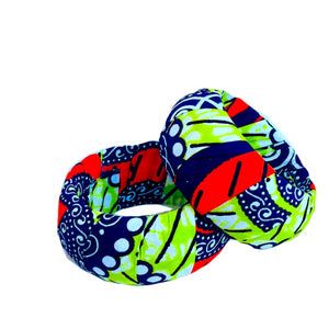 Green And Pink Large African Fabric Bangles - Zabba Designs African Clothing Store