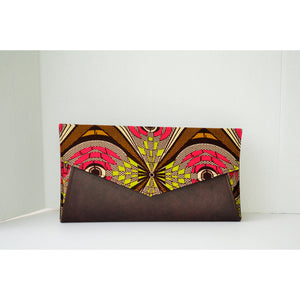 Trendy Clutch Burgundy - Zabba Designs African Clothing Store