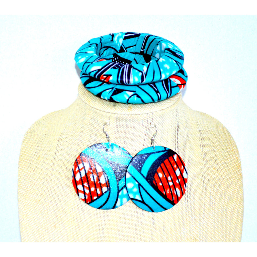 Blue Fashion Jewelry, Gift for her, Handmade Gift Set - Zabba Designs African Clothing Store