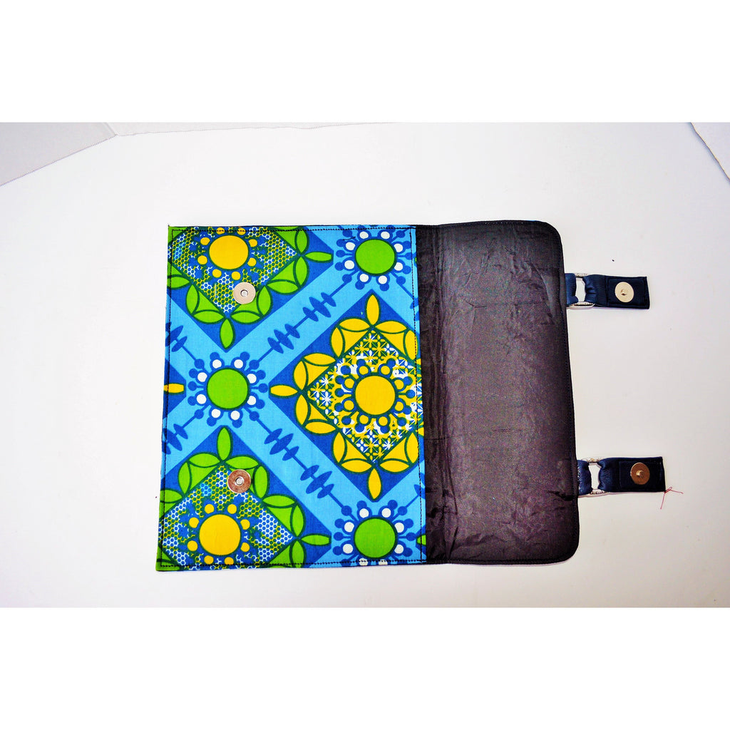 Kyya Blue African Inspired I Pad Case - Zabba Designs African Clothing Store
