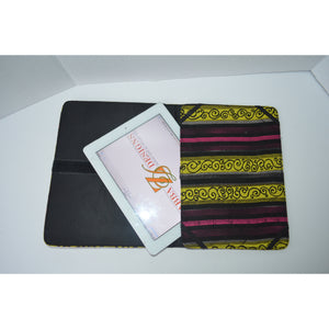 Yellow African Print IPad Cover - Zabba Designs African Clothing Store