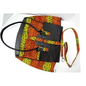 The Ashley  Ghana Tote Bag - Zabba Designs African Clothing Store