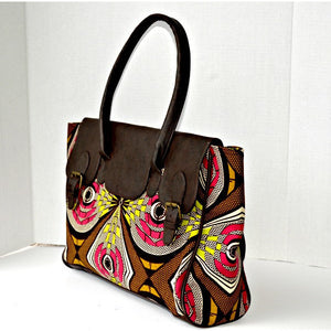 The Kru Top Handle Tote Bag - Zabba Designs African Clothing Store