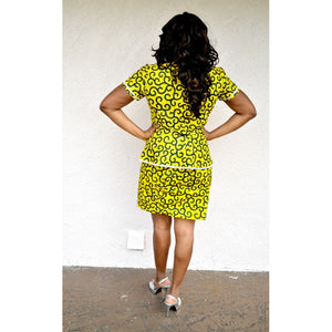 DELLE African Print Dress Suit - Zabba Designs African Clothing Store