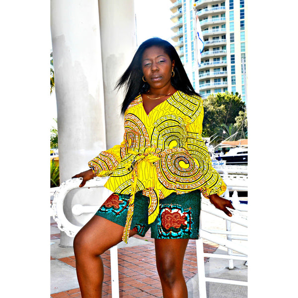 LOLA African Peplum Top - Zabba Designs African Clothing Store  - 1
