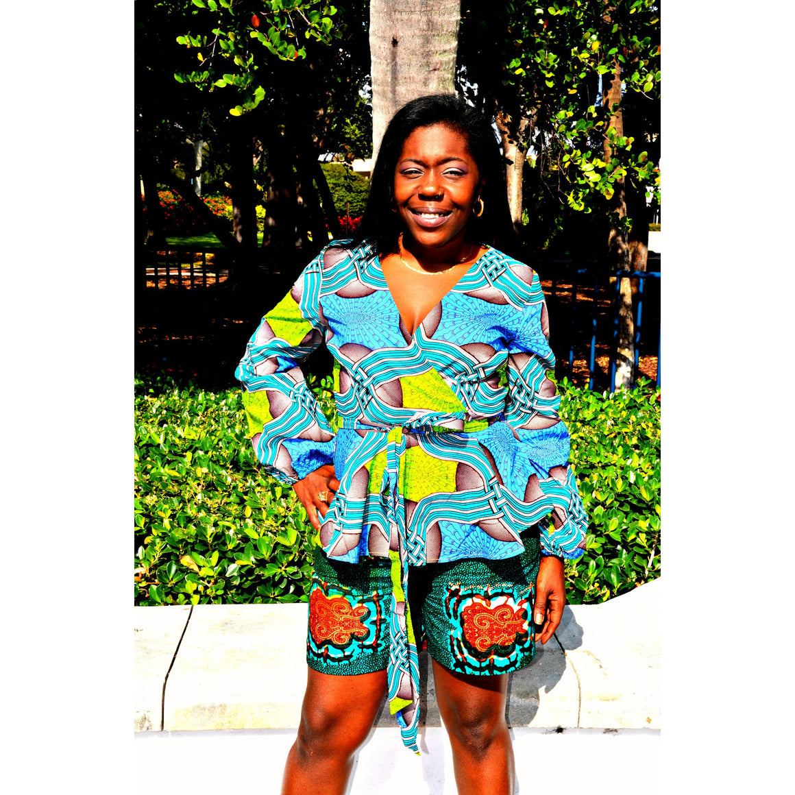 MANI African Peplum Top - Zabba Designs African Clothing Store  - 1