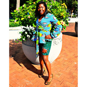 Oni African Print Shorts Set - Zabba Designs African Clothing Store  - 5