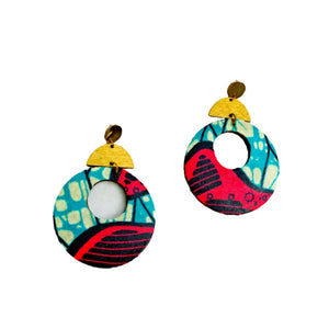 Women's s Round African Earrings - Zabba Designs African Clothing Store