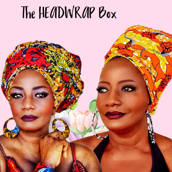 3 MONTH HEAD WRAP BOX, FREE SHIPPING IN THE USA, PLAN AUTOMATICALLY RENEWS, YOU MAY CANCEL AT ANY TIME - Zabba Designs African Clothing Store