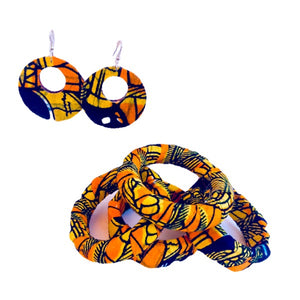 Memi African Print Earrings - Zabba Designs African Clothing Store