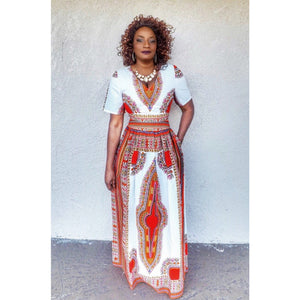 Kissi African Dashiki Maxi Dress - Zabba Designs African Clothing Store