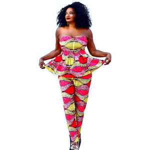 Meme African Print Pant  And Top Set - Zabba Designs African Clothing Store
