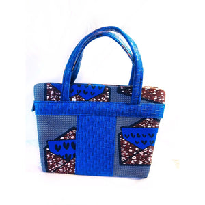 African-Made Handbag  Blue - Zabba Designs African Clothing Store