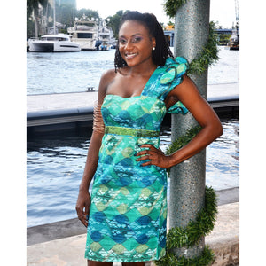 Green Meme African Dress - Zabba Designs African Clothing Store