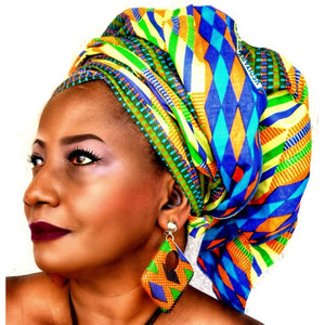 Kente Traditional Print Earrings - Zabba Designs African Clothing Store