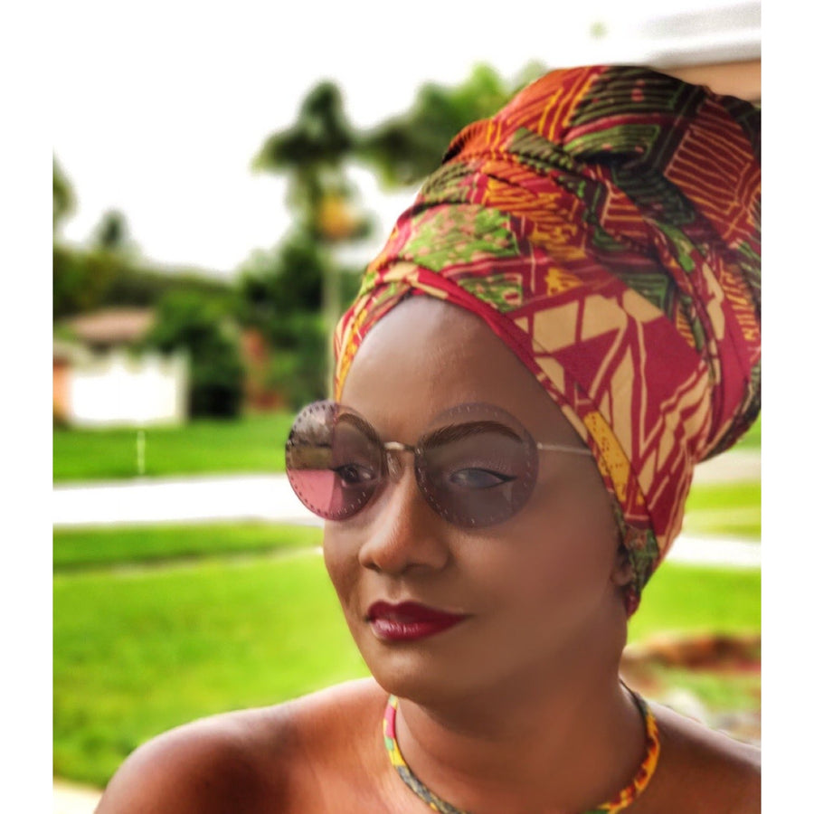 Ajisai Head Wrap - Zabba Designs African Clothing Store