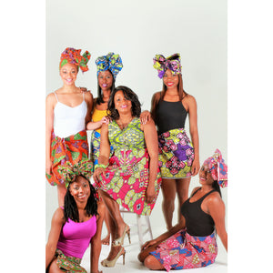 Ankara Print Headwrap~  The AZUBIKE - Zabba Designs African Clothing Store