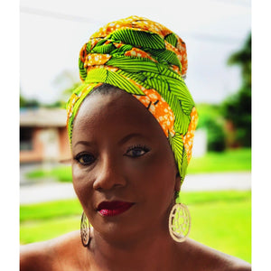 Kinmokusei African Print Headwrap - Zabba Designs African Clothing Store