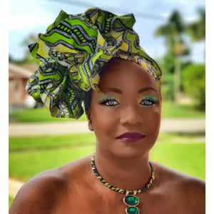 Rabenda Carnival African Print Headwrap - Zabba Designs African Clothing Store