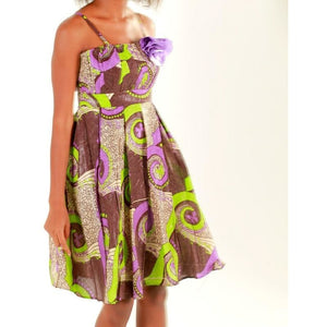 Green Midi Party Dress - Zabba Designs African Clothing Store