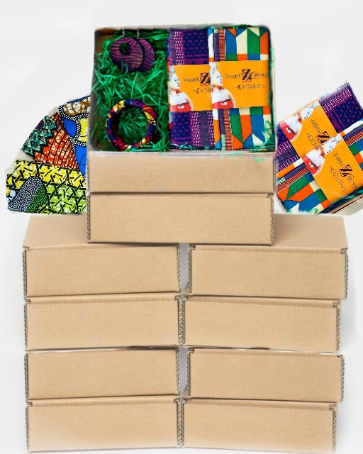 12 MONTH Head Wrap  Box, $30.99 / mo.  Three Free Months,   Free Shipping In The USA,  Plan automatically renews,  You may cancel at any time - Zabba Designs African Clothing Store