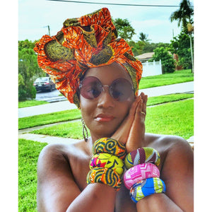 Rosemary African Print Head Wrap - Zabba Designs African Clothing Store
