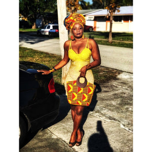 SISSY Kente African Tote Bag - Zabba Designs African Clothing Store