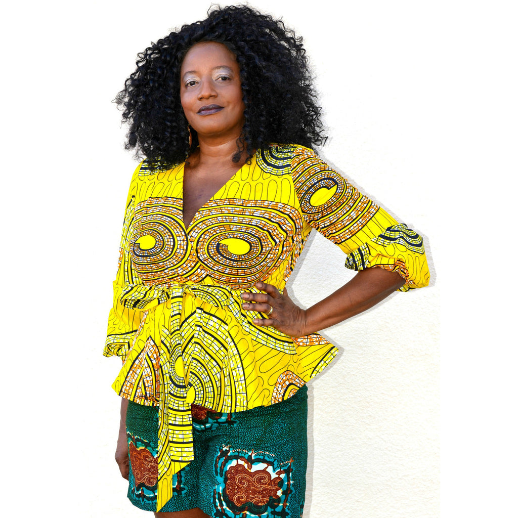 Tau African Print Shorts Set - Zabba Designs African Clothing Store  - 1