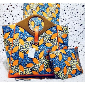 Copy of DragFashion African Print Hobo Bag with Wallet - Zabba Designs African Clothing Store